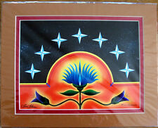 """Art Print Authentic Native American  """"Seven Grandfathers""""  11x14"""" matted New"""