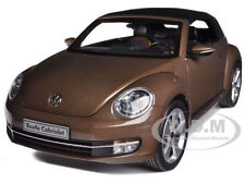 VOLKSWAGEN NEW BEETLE CONVERTIBLE TOFFEE BROWN 1/18 MODEL CAR KYOSHO 08812 TBR