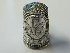 DELAWARE - COLONIAL AMERICA FRANKLIN MINT STERLING SILVER THIMBLE - MINT