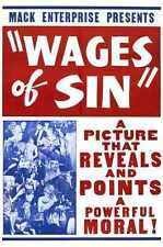 Wages Of Sin 1938 Poster 02 A3 Box Canvas Print