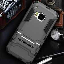 [2015 Release] HTC ONE M9 Slim Double Layers Case Stand Armour Cover Shockproof