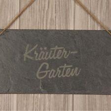 """Schieferschild """"Kräutergarten"""" Geschenkidee Deko Garten Schild"""