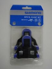 Shimano SM-SH12 SPD-SL Cleat Set BLUE / BLACK FRONT CENTER PIVOT Mode inc. Bolts