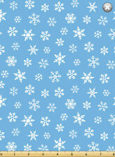 Susybee's Gwyn, the Penguin Snowflakes Blue 100% cotton fabric by the yard