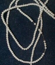 VINTAGE JAPANESE FAUX SEED PEARLS FABULOUS BEAD  300 LITTLE WHITE