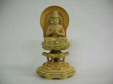 Buddhism Wood Sculpture (light-colored); DAINICHI NYORAI (Vairocana)
