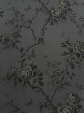 Ralph Lauren Curtain Fabric 'Ashfield Floral' 3.7 METRES Tarnished Steel - Linen