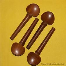 NEW SET OF BROWN HARDWOOD 3/4 SIZE CELLO STRING TUNING PEGS GOOD QUALITY