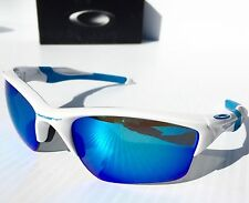 NEW* Oakley HALF JACKET 2.0 POLARIZED Sapphire XL in WHITE Blue Sunglass 915454