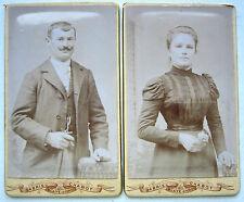2 CDV PHOTO GABRIEL CHABOT à BLAYE COUPLE GEORGES et MARIE FAMILLE GODON ELIAS