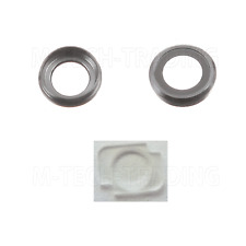 NEW GENUINE IPHONE 6 4.7 REAR GREY CAMERA LENS COVER RING + FLASH DIFFUSER PART