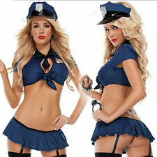 New Ladies Police Fancy Halloween Costume Sexy Cop Outfit Woman Cosplay Hot
