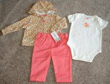 Carter's Baby Girls Floral Fox 3pc Outfit Clothes Size 6 Months 6M NWT NEW 3-6 m