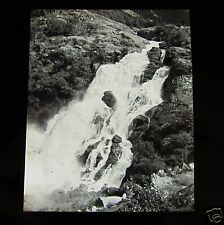 Glass Magic lantern slide UNKNOWN LOCATION 15 NORWAY - A WATERFALL