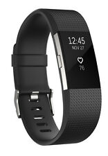 Fitbit Charge 2 Wireless Activity Tracker and Sleep Wristband Large-Black/Silver
