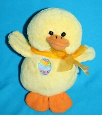 """Best Made Toys EASTER DUCK 6"""" Yellow Plush Chick Bow Stuffed Soft Toy No Sound"""