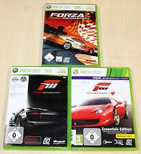 3 GIOCHI XBOX 360 raccolta-Forza Motorsport 2 3 4-CORSE RACING