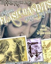 "TATTOO FLASH ""RELIGIOUS FLASH"" ON CD/DVD 110 SHEETS WITH LINE WORK!"