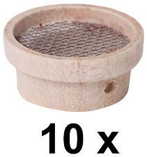 10 x Mini Sieb Minisieb Miniatur Geschirr für Puppenstube  D 25 mm