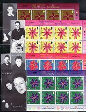 ISLA DE MAN 2002 PAUL MacCARTNEY MUSICA DE LAS FLORES 6 MINIHOJAS SERIE 1017/22
