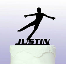 Personalised Ice Skater Acrylic Cake Topper - Skating