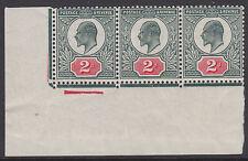 SG 291 2d Deep Dull Green &  Carmine M13 (2) strip Plate H4c D3 two U.M. one LMM