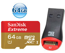 SANDISK EXTREME microSDXC 64GB 64G micro SDXC micro SD Card 45MB/s* CLASS 10 +