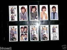 THE BEATLES YESTERDAY TODAY WARUS TRADING CARDS  FULL SET OF TEN IN SLEEVE MINT