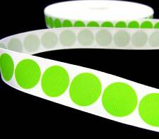 "5 Yd Christmas Green Polka Dot Grosgrain Ribbon 7/8""W"