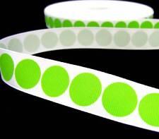 "5 Yd Christmas Green Polka Dot Grosgrain Ribbon 7/8""W"