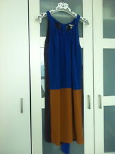 MARNI  (FOR H&M) BLUE ,MUSTARD & AUBERGINE SILK DRESS WITH H&M HANGER & GIFT BAG