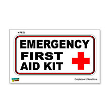 Emergency First Aid Kit - Business Store Sign - Window Wall Sticker