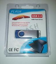 1TB USB 2.0 Flash Drive Disk Memory Pen Stick Thumb Key Storage Swivel Blue A9
