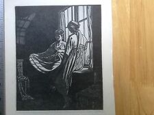 1930 Woodcut print The Sisters by Noel Rooke
