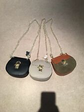 Real Leather Drew Style Chain Bag Black Khaki Tan Chloe Lewis