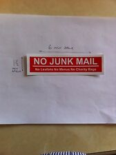 100 X No Junk Mail Leaflets Menus Charity Bags Stickers Sign Door Letter Box