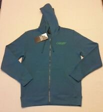 Oakley Mens O-Jupiter Fleece Chino Blue Full Zip Hoodie Size M