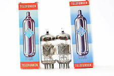 2 X ECF82 TUBE. TELEFUNKEN BRAND TUBE. NOS/NIB.  MATCHED PAIR. CRYOTREATED C21V4