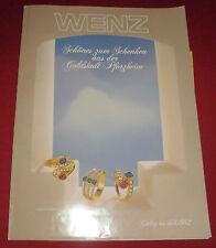 dachbodenfund alter versandhaus katalog wenz pforzheim 191 schmuck u. geschenke
