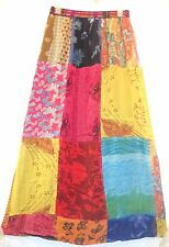 NW SACRED THREADS FUNKY PATCH FLORAL LINED RAYON SKIRT M CHECK MSRMNTS FREE SHIP