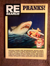 RE/SEARCH: Pranks- Joe Coleman*Boyd Rice*Timothy Leary*Ed Hardy*John Waters*Punk
