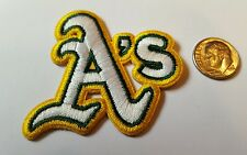 """Oakland Athletics  A's Vintage Embroidered Iron On Patch (A'S) LOGO 2"""" x 2""""  MLB"""