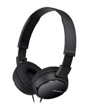 NEW Sony MDR-ZX110 DJ Black Stereo Wired Headset Headphones iPhone iPod Android