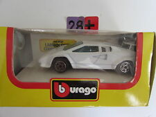 BBURAGO DIE CAST METAL MODEL W/ PLASTIC PARTS LAMBORGHINI COUNTACH 400S