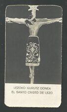 Estampa antigua del Cristo de Lezo andachtsbild santino holy card santini