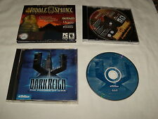 Riddle of the Sphinx (PC, 2010) & Dark Reign The Future of War (PC, 1997) Games