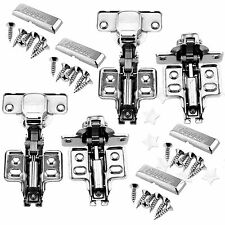 4x Soft Close Hydraulic Buffering Kitchen Cabinet Furniture Hinge Cupboard Door