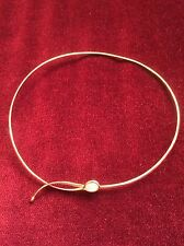 VERY RARE STUNNING Georg Jensen 18K GOLD Moonstone Neckring