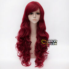 Batman Poison Ivy Red 80cm Long Curly Women Heat Resistant Anime Cosplay Wig
