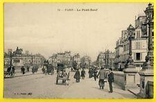 cpa FRANCE 75 - PARIS Le PONT NEUF New Bridge Animés Attelage Charette à Bras
